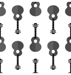 Guitar Silhouette Seamless Background vector image