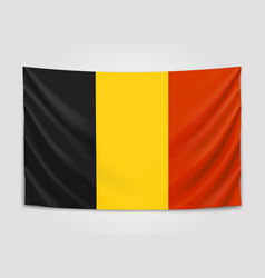 hanging flag of belgium kingdom of belgium vector image