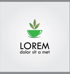 Herbal tea logo vector