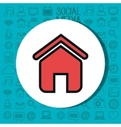 home house silhouette isolated icon vector image
