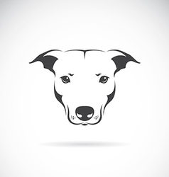 image a dog head vector image