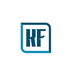 initial letter logo kf template design vector image