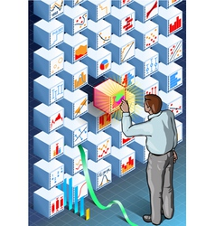 Isometric Infographic with Standing Man on vector