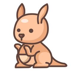 Kangaroo linecolor vector