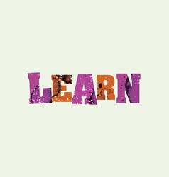 Learn concept stamped word art vector