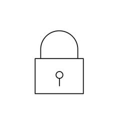 Locker locked icon vector
