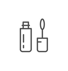 mascara line icon vector image