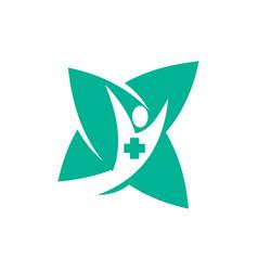 Medical health clinic pharmacy logo template vector