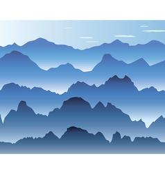 Mist in mountains vector