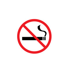 no smoking icon graphic design template vector image
