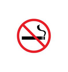 no smoking icon graphic design template vector image