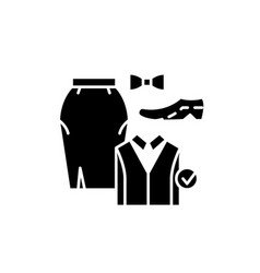 office dresscode black icon sign on vector image
