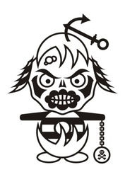 Pirate monster vector