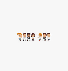 Pixel people vector
