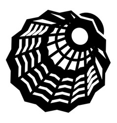 Plastic shuttlecock icon simple style vector