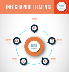 Process chart infographics2 vector
