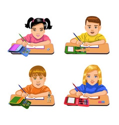 Pupils writing vector