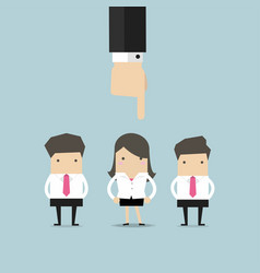 recruitment concept hand pointing to businesswoman vector image