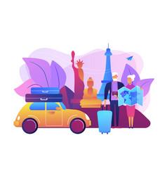 Retirement travel concept vector