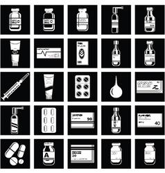 Set of medicament symbols vector