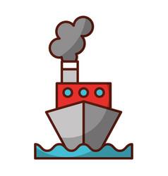 Shadow ship cartoon vector