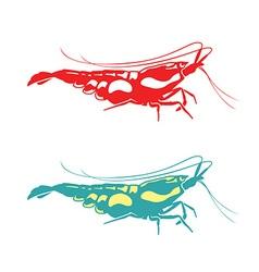 Shrimp silhouette vector