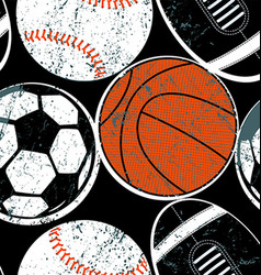 Sports balls seamless pattern vector