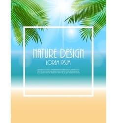 Summer Natural Background vector