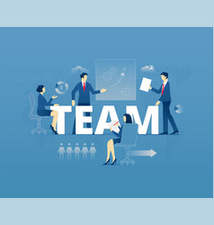 Teamwork typographic poster vector