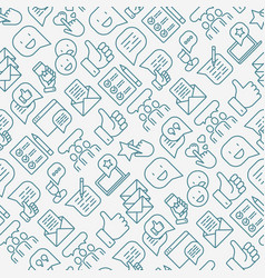 Testimonials and quote seamless pattern vector