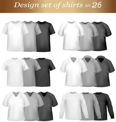 Tshirt templates vector