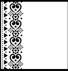 valentines day greeting card folk art vector image