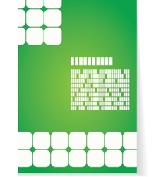 White and green background for brochure or cover vector