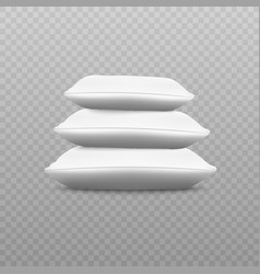 white pillow stack from side view vector image