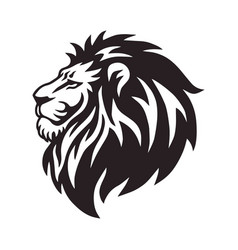 Wild lion head logo icon design vector