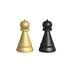 3d chess pieces on white background 3d chess vector image