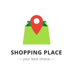 bright shopping bag logo vector image