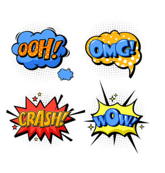 bubble speech for onomatopoeia and comic book vector image vector image
