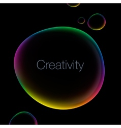 Creativity abstract background with speech bubble vector image vector image