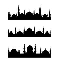 Islamic city vector image vector image