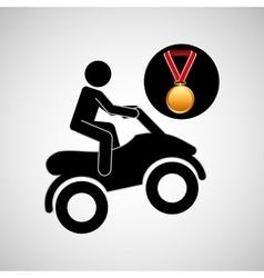 quad bike medal sport extreme graphic vector image