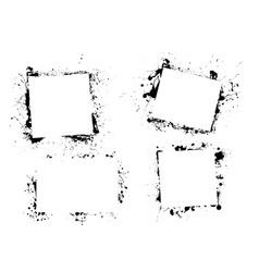 splat ink paint border vector image vector image