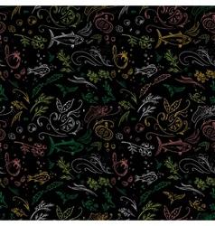 Black food pattern vector image vector image
