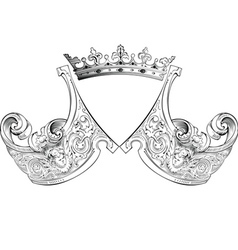 crown heraldry composition vector image