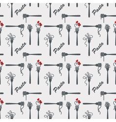 fork of pasta pattern vector image