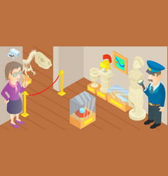 museum concept cartoon style vector image vector image