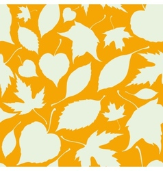 Seamless pattern with falling leaves Autumn vector image