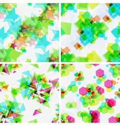 Set of modern seamless patterns vector image vector image