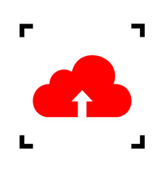cloud technology sign red icon inside vector image vector image