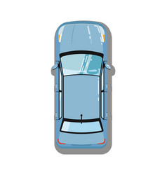 modern sedan top view icon vector image vector image